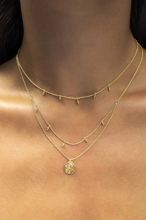 By Charlotte - Gold Eternal Harmony Necklace