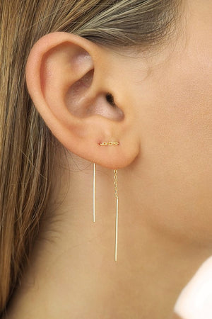 By Charlotte - Gold Thread Earrings