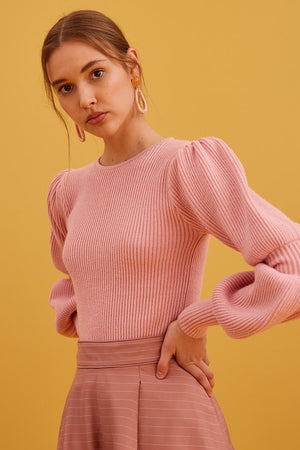 Keepsake - Beam Knit Top - Dusty Pink
