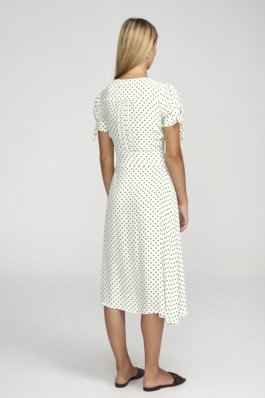 Faithfull the Brand - Billie Midi Dress - Lula Dot Print Green