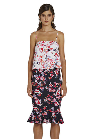 By Johnny - Blooming Crop Cami - White Foral