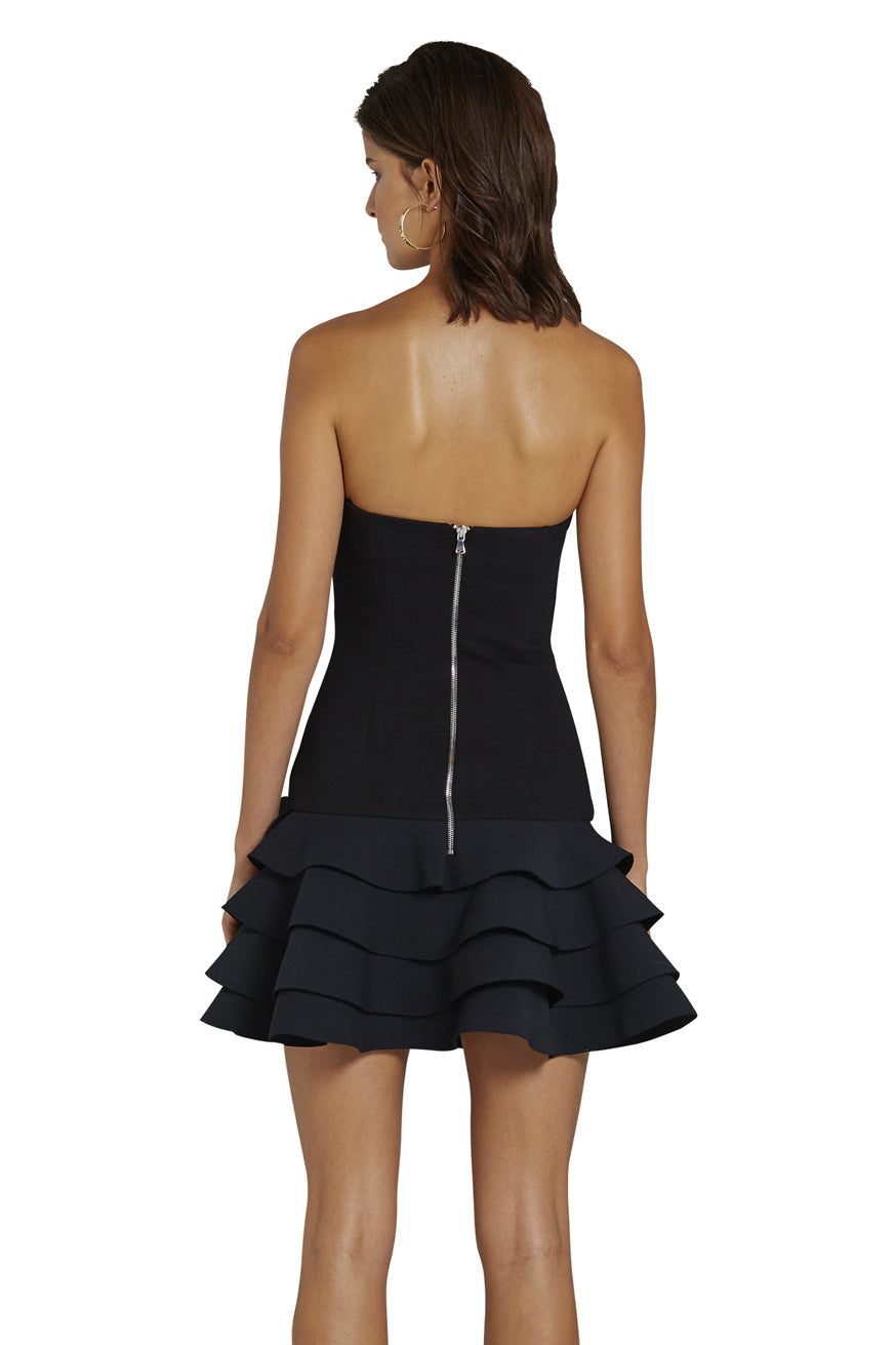 By Johnny - Calla Strapless Frill Mini Dress