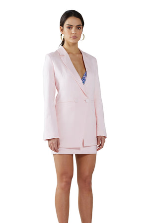 By Johnny - Strawberry Cream Linen Structured Blazer