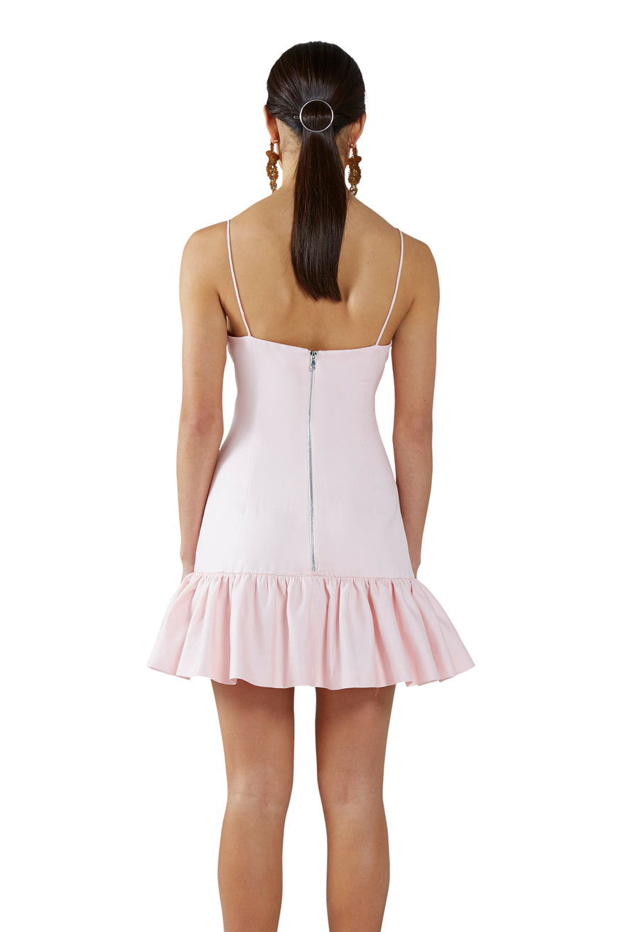 By Johnny - Berry Cream Frill Mini Shift Dress