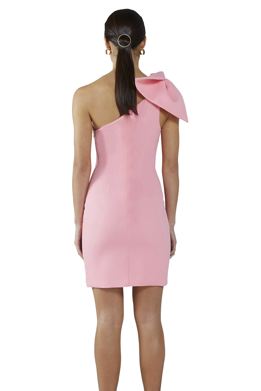 By Johnny - Carnation Tie Shoulder Mini Dress
