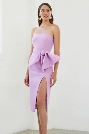 By Johnny - Bow Tie Strapless Dress - Lilac