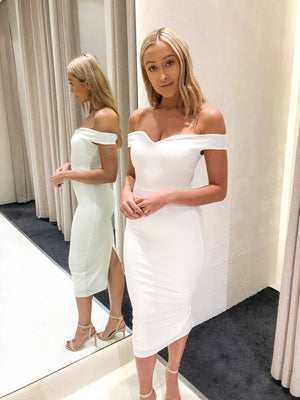 Piper Lane - Adele Off Shoulder Midi Dress - Ivory