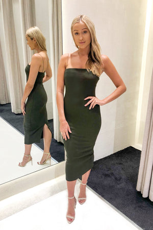Piper Lane - Coco Midi Dress - Khaki
