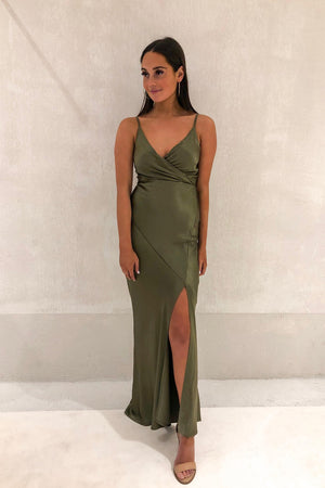 Piper Lane - The Cameron Gown - Olive