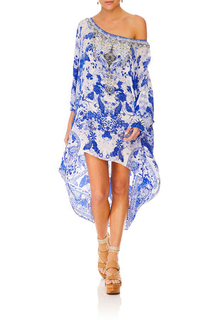 Camilla - Scoop Back Hem Dress - The Fan Sea