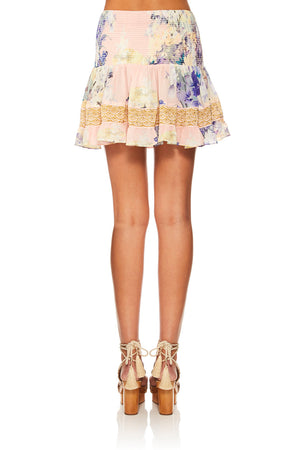 Camilla - Short Shirred Skirt - Harajuku Heiress