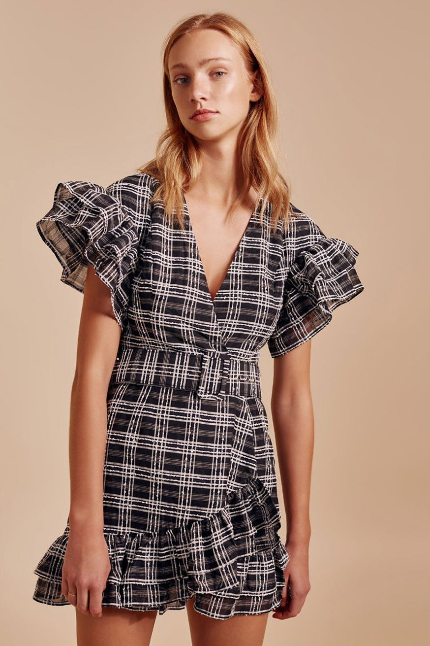 C/meo Collective - Captivate Dress - Black Check