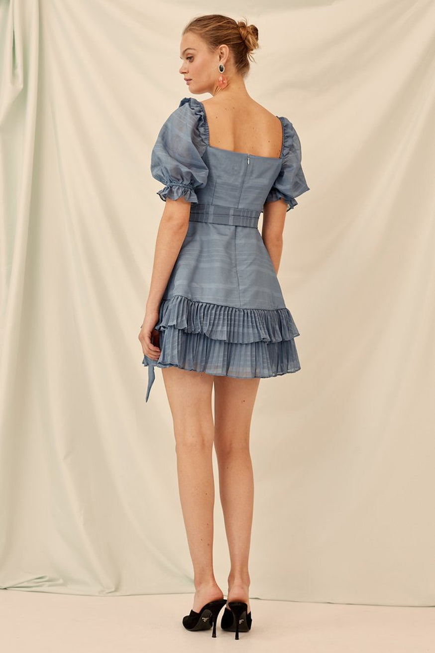 Keepsake - Charmer Dress - Steel Blue