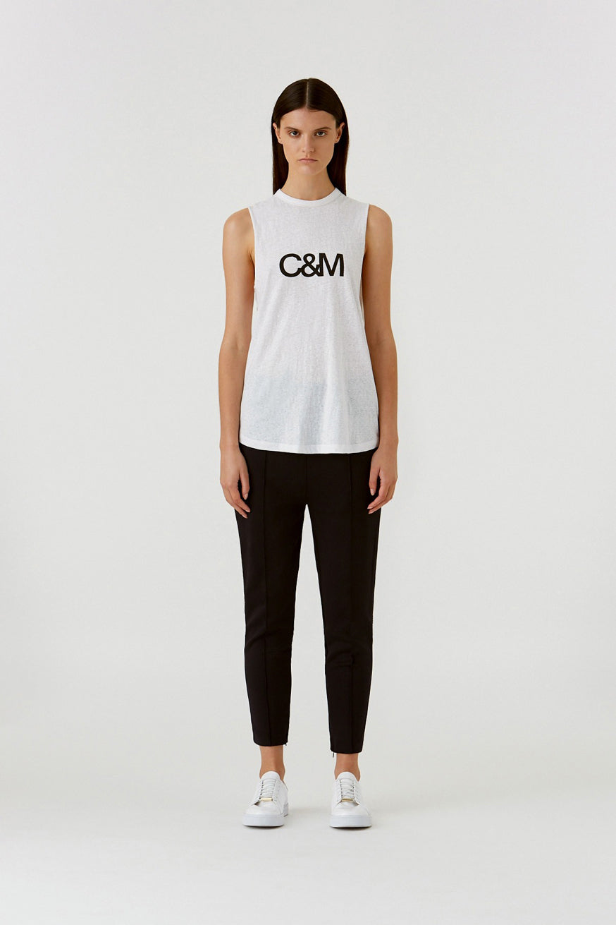 C&M - Classic Muscle Tank - White