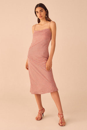 C/meo Collective - Counting All Short Sleeve Dress - Cherry Check
