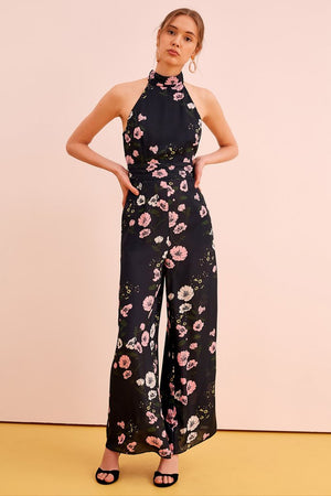 Keepsake - Darkness Jumpsuit - Navy Bloom