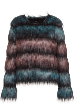 Unreal Fur - The Elements Jacket - Dusty Teal & Evening Rose