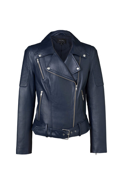 Ena Pelly - Classic Biker Jacket - Navy