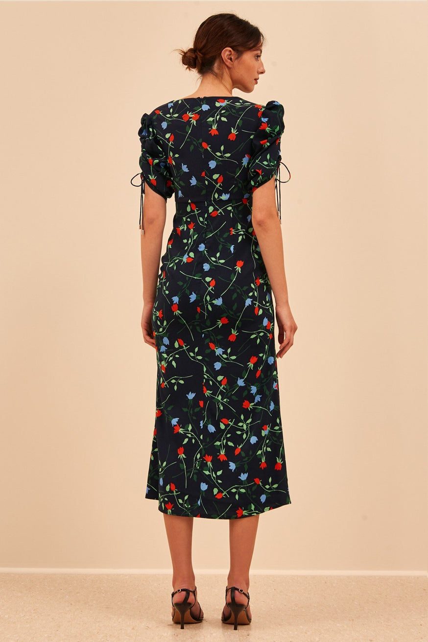 C/meo Collective - Ended Up Here Midi - Navy Floral