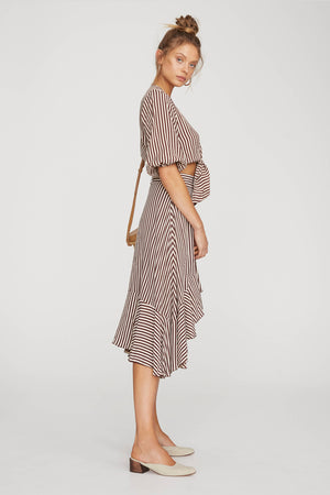 Faithfull The Brand - Tramonti Skirt - Georgia Stripe Espresso