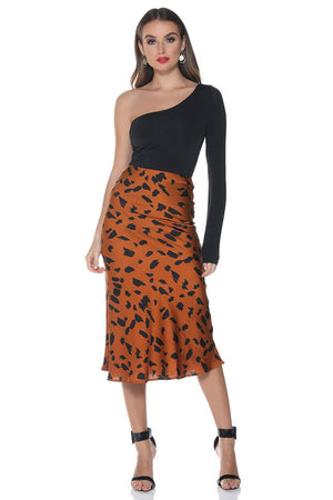 Runaway the Label - Flint Slip Skirt - Rust