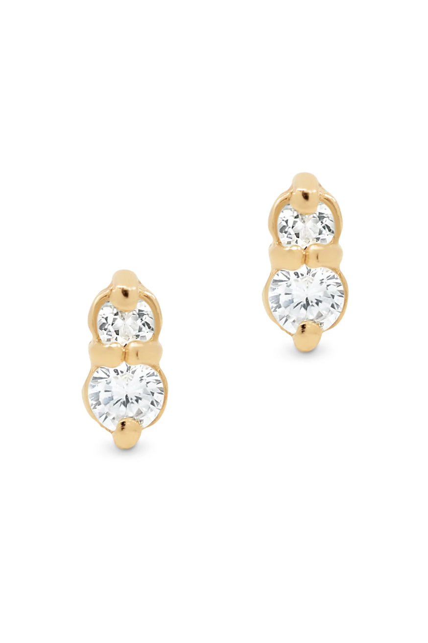 By Charlotte - Gold Air Stud Earrings