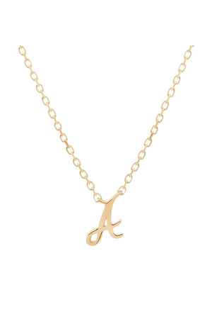 By Charlotte - 14k Gold Love Letter Necklace