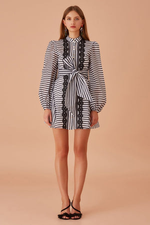7b482494 Keepsake - Guardian Long Sleeve Mini Dress - Navy Stripe