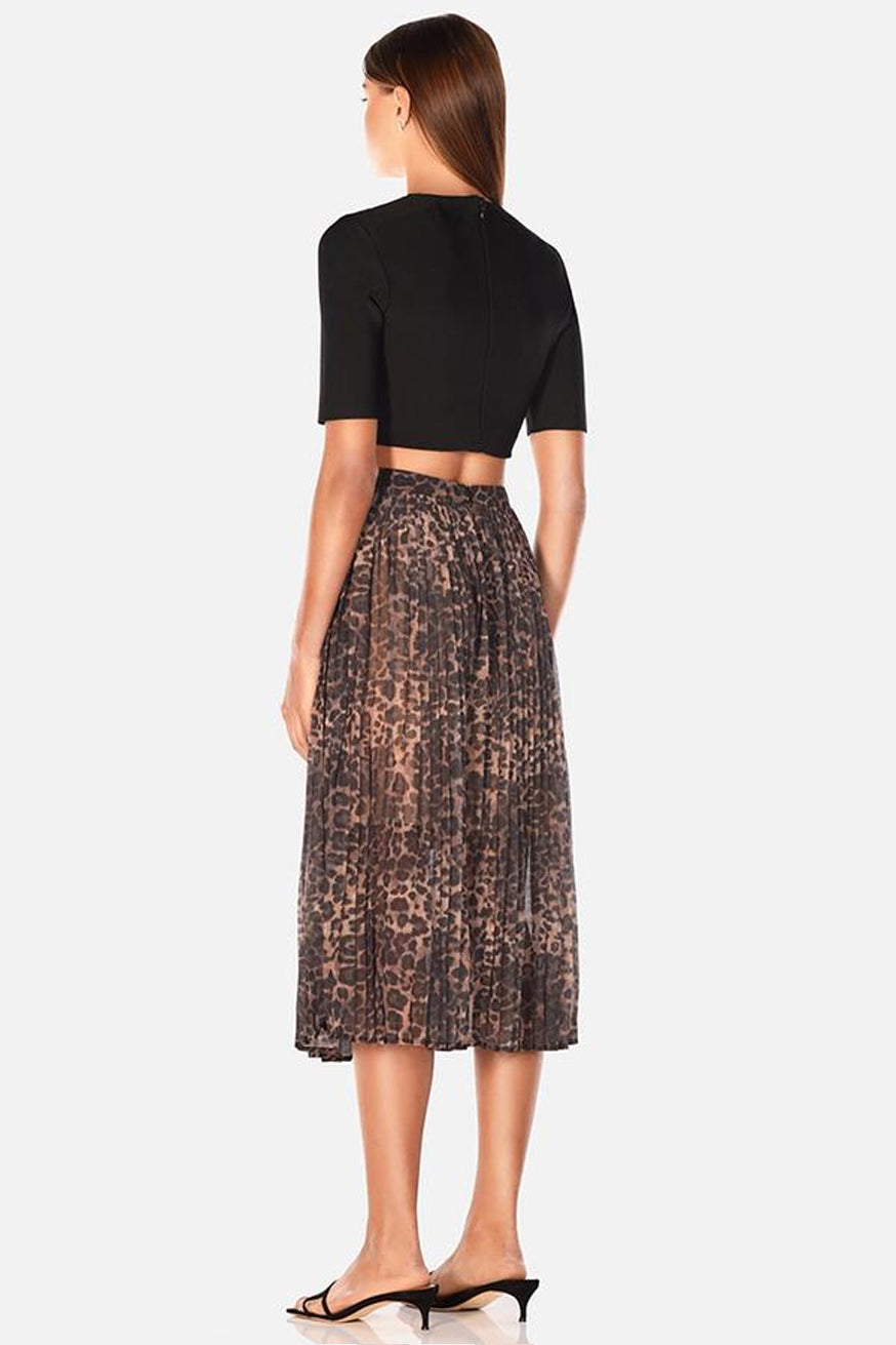 Misha Collection - Jana Midi Skirt - Leopard