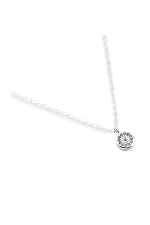 By Charlotte - Jewelled Eye Necklace - Silver