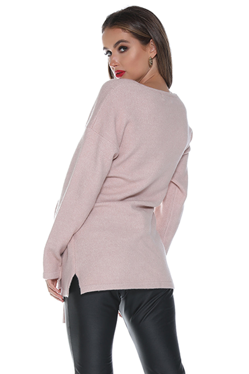Runaway the Label - Knot Today Jumper - Blush