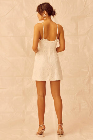 Keepsake - Higher Lace Mini Dress - Ivory