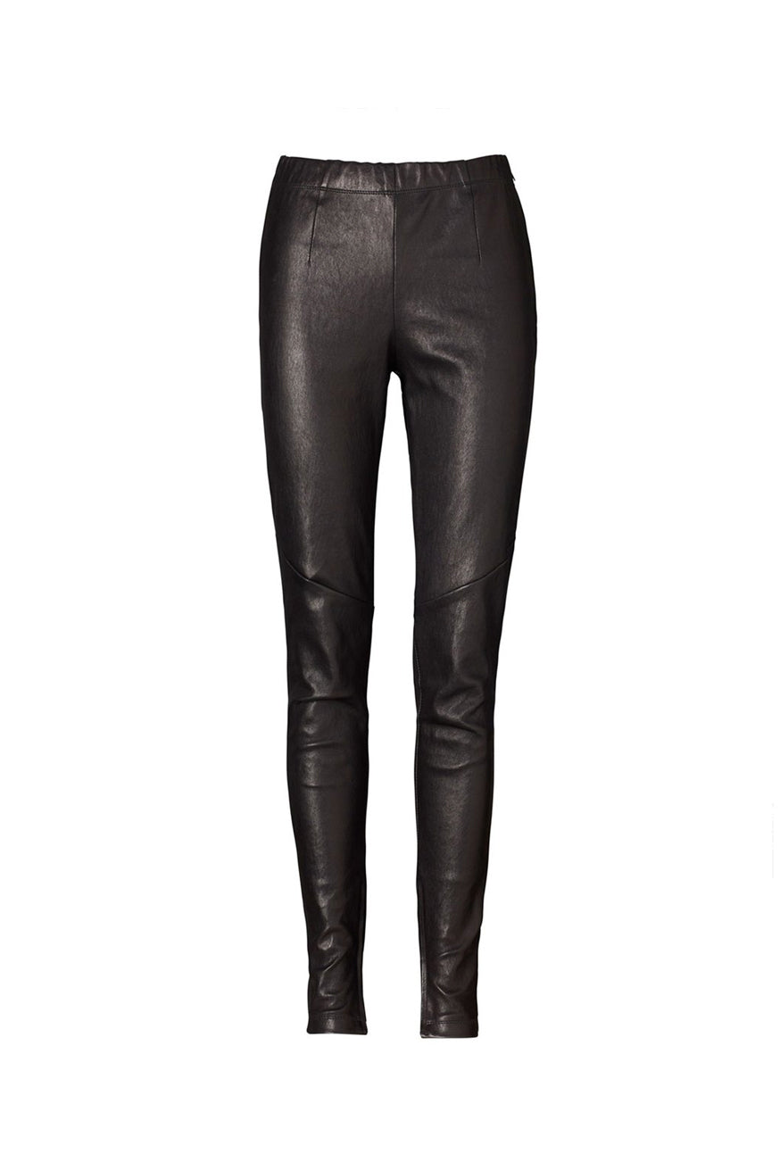 Ena Pelly - Minimalist Leather Leggings - Black