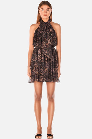 Misha Collection - Limor Leopard Mini Dress
