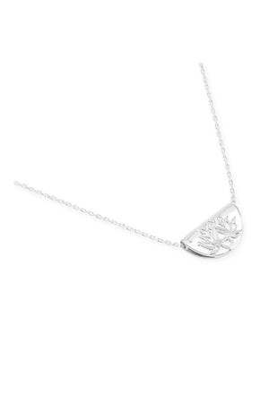 By Charlotte - Lotus Short Necklace - Silver