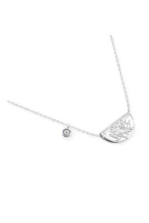 By Charlotte - Lucky Lotus Necklace - Silver