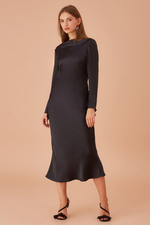 Keepsake - Manor Long Sleeve Dress - Navy