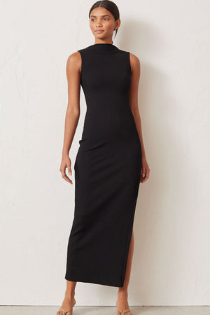 Bec & Bridge - Noir et Blanc Midi Dress - Black