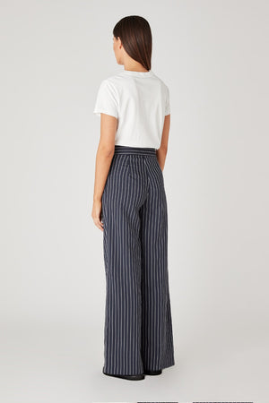 C&M - Pollino Stripe Pant - Navy & White Stripe