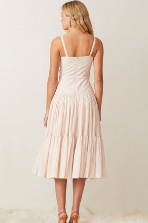 Bec & Bridge - Puka Shell Midi Dress - Shell Pink