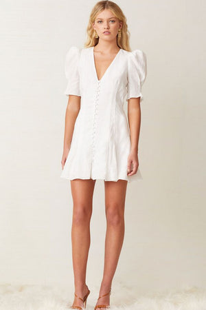 Bec & Bridge - Puka Shell Mini Dress - Ivory