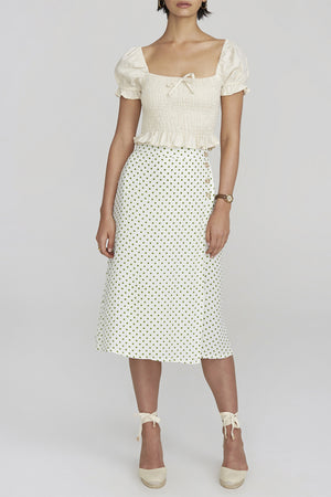 Faithfull the Brand - Racquel Skirt - Lula Dot Print Green