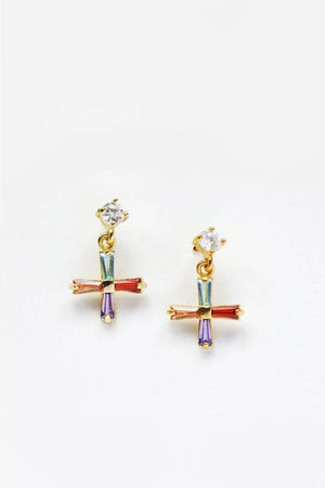 Reliquia - Mini Cross Earrings - Multi