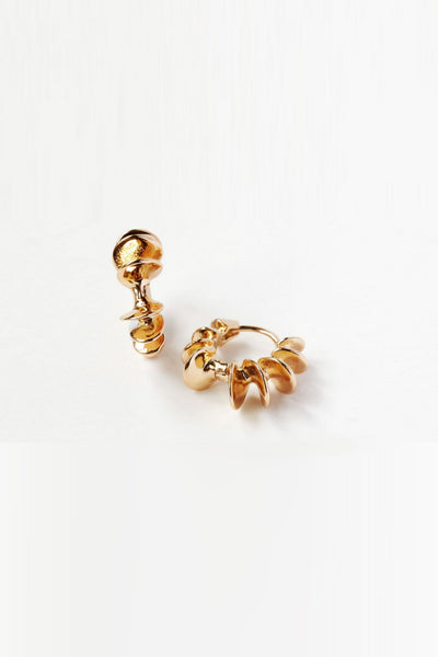 Reliquia - Mini Shell Hoops - Gold