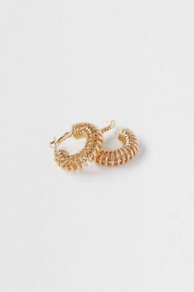 Reliquia - Spiral Hoop Earrings - Gold