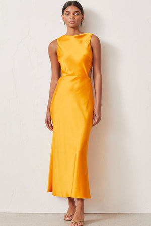 Bec & Bridge - Seraphine Cut Out Midi Dress - Tangerine