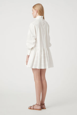 C&M - Zeta Shirting Mini Dress - White