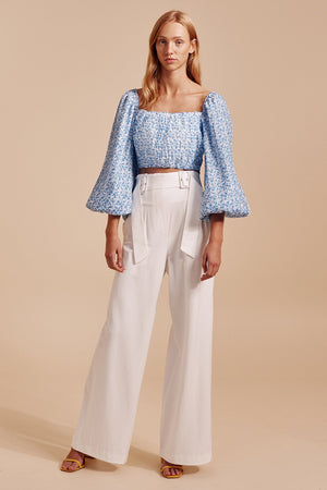C/meo Collective - Come Across Top - Light Blue Floral