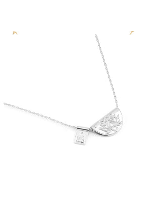 By Charlotte - The Lotus and Little Buddha Necklace - Silver