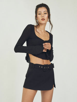 HARPER MINI SKORT - BLACK